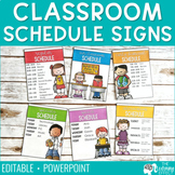Schedule Signs | Editable