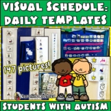 Daily Picture Schedule Pieces & Templates for Students with Autism/Asperger's
