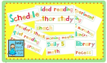 Daily Classroom Schedule Words
