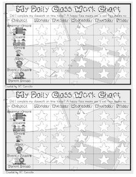 Daily Classwork Chart