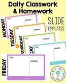 Daily Classwork & Homework Slides   Tech Theme