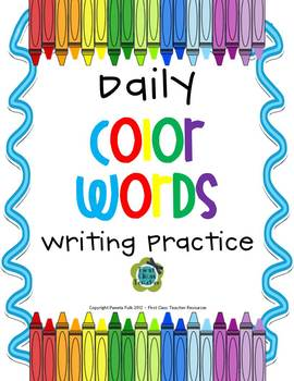 Daily Color Word Practice