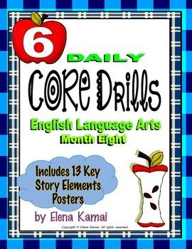 Daily Common Core Drills ~ Month EIGHT {Gr. 6 ELA Worksheets}
