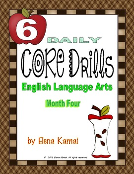 Daily Common Core Drills ~ Month Four {Gr. 6 ELA Worksheets}