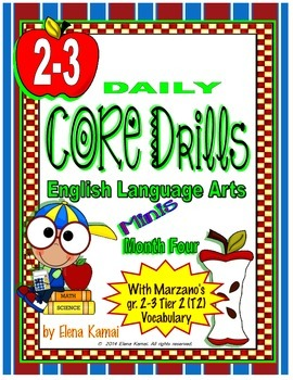 Daily Common Core Drills ~ Month Four {gr. 2-3 ELA Worksheets}