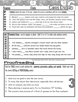 Daily Common Core Drills ~ Month SEVEN  {Gr. 6 ELA Worksheets}