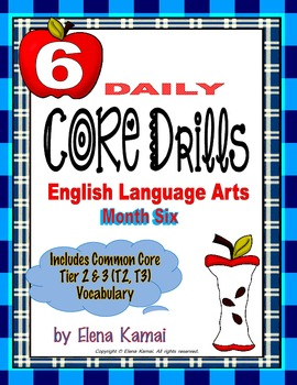 Daily Common Core Drills ~ Month SIX {Gr. 6 ELA Worksheets}