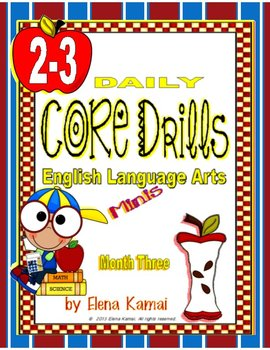 Daily Common Core Drills ~ Month THREE {gr. 2-3 ELA Worksheets}