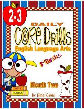 Daily Common Core Drills ~ Month TWO {gr. 2-3 ELA Worksheets}