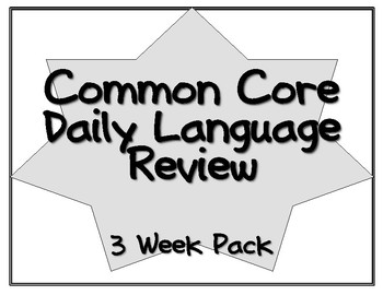 Daily Common Core Language Review