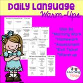Daily Language Warm Up