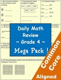 Daily Common Core Math Review Sheets - 4th Grade - Mega Pack