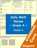 Daily Common Core Math Review Sheets - 4th Grade - Packet 3