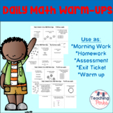Daily Math Warm-Up