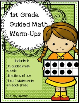 Daily Guided Math Warm-Ups: First Grade Edition