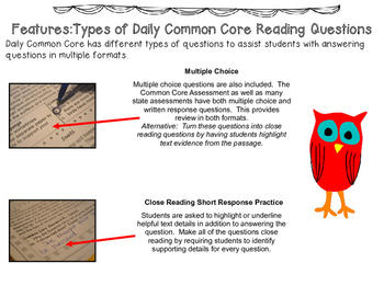 Daily Common Core Reading Grade 5 and Grade 6 Combined