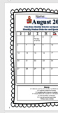 Daily Communication Calendar 2017-1018