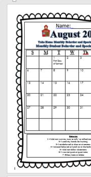 Daily Communication Calendar 2017-1018