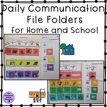 Autism Communication File Folders for Home and School
