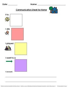 Daily Communication File Folders for Home and School for Autism and Special Ed