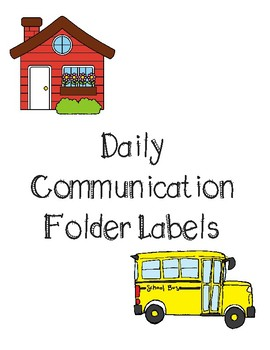 Daily Communication Folder Labels