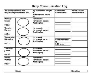 Daily Communication Log
