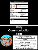 Daily Communication Log (Promotes Social Skill Daily Questions)
