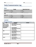 Daily Communication Log (Upper Elementary)