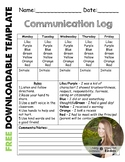Daily Communication Log for Parents
