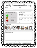 Daily Communication Log for Special Education Classroom