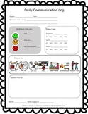 Daily Communication Log for Special Education Classroom **Editable**