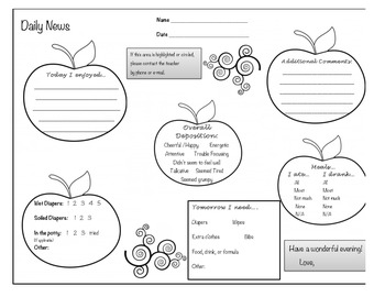Daily Communication Note Home