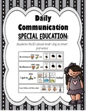 Daily Communication Logs (Special Education)