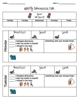 Daily Communication Sheet