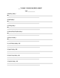Speech Therapy-Special Education-Daily Communication Sheet