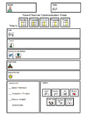 Daily Communication Sheet - Fill In