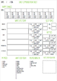 Daily Communication Sheet Nursery/Preschool