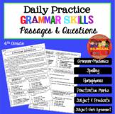 Daily Comprehension Passages - Grammar - Fourth Grade