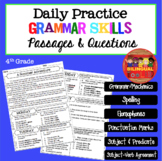 Daily Comprehension Passages - Grammar - Fourth Grade