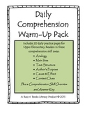 Daily Comprehension Warm-Up Pack