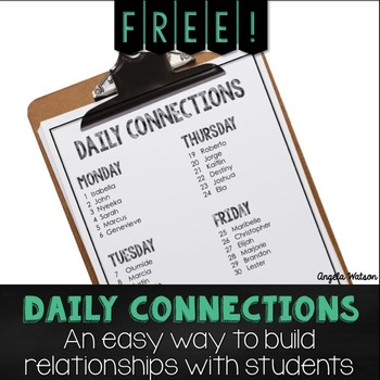 Daily Connections: An easy way to build individual relationships with students