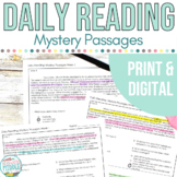 Daily Reading Context Clues Bundle - Mystery Passages All 8 Weeks!