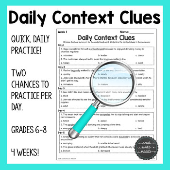 Daily Context Clues Quick Practice