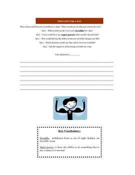 Daily Creative Writing Topics with Vocabulary
