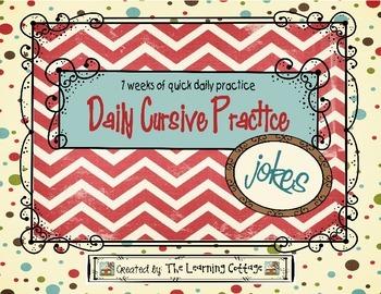 Daily Cursive Practice-Jokes