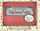 Daily Cursive Practice-Lowercase Letters