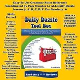 GRAMMAR RULES - Grades 3 - 8  DAILY DAZZLE TOOL BOX -