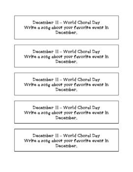 Daily December Writing Prompts