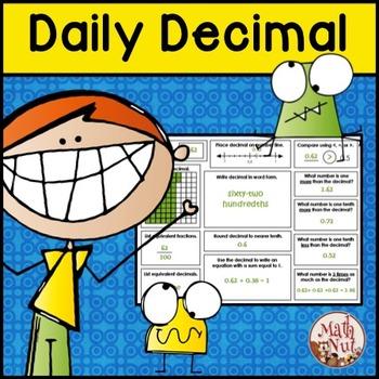 "Daily Decimal Practice: Place Value ""Common Core"""