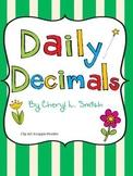Daily Decimal Work ~ Common Core Aligned
